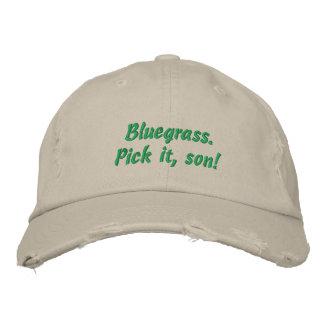 Bluegrass: Wählen Sie ihn, Sohn aus! Bestickte Baseballkappe