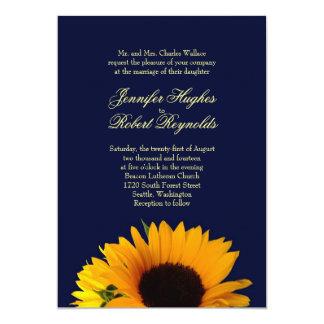 BlueII Sonnenblume-Hochzeits-Einladung Karte