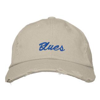 Blues-dunkle Text-Baseballmütze Bestickte Baseballkappe