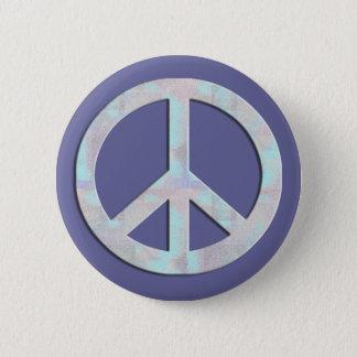 Blues-Friedenszeichen-Knopf Runder Button 5,7 Cm
