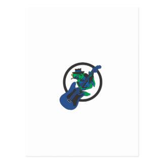 Blues-Frosch Postkarte