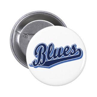 Blues in Blauem und in Blauem Runder Button 5,7 Cm