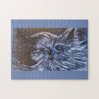 Blues-Katzenphantasiekunst durch cfw Puzzle