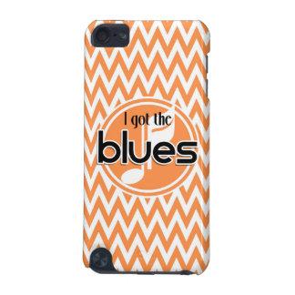 Blues-Musik Orange und weißes Zickzack