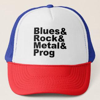 Blues&Rock&Metal&Prog (Schwarzes) Truckerkappe