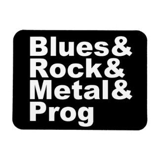 Blues&Rock&Metal&Prog (weiß) Magnet