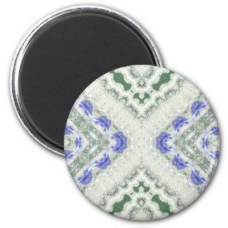 Blues und Grau Runder Magnet 5,7 Cm