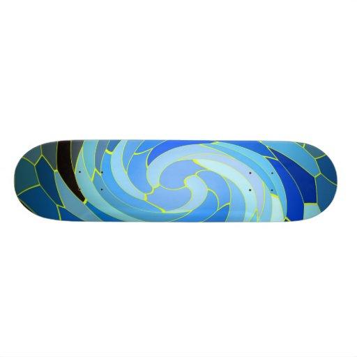 BlueSwirls Personalisiertes Skateboard