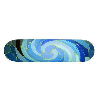 BlueSwirls Skateboard Deck