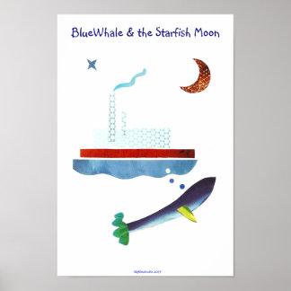 BlueWhale u. der Starfish-Mond Poster