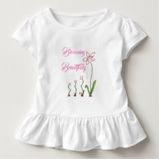 Blühen schön wachsendes Blumen-Shirt Kleinkind T-shirt