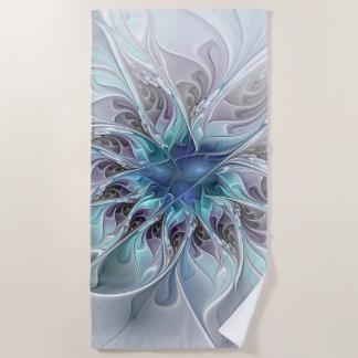 Blühen Sie abstrakte moderne Fraktal-Blume mit Strandtuch