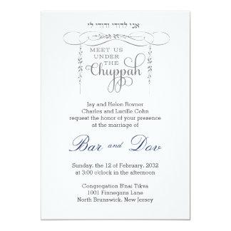 Blühen Sie Chuppah - jüdische Hochzeits-Einladung 12,7 X 17,8 Cm Einladungskarte