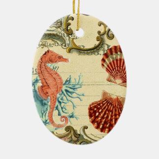 blühen Sie französisches modernes Vintages Keramik Ornament