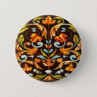 blühen Sie gelb-orangeen Herbst-Herbstlaub des Runder Button 5,7 Cm