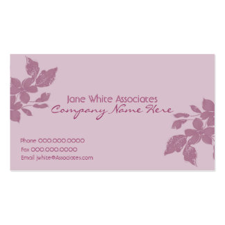 Blühen Sie Geschäfts-Karte Visitenkarten