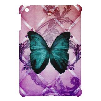 Blühen Sie lila Wirbels-böhmischen aquamarinen iPad Mini Schale