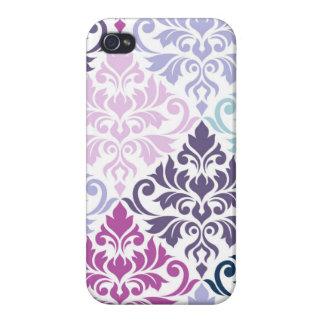 Blühen Sie Purpur-Rosa-Blues-Weiß der iPhone 4/4S Cover