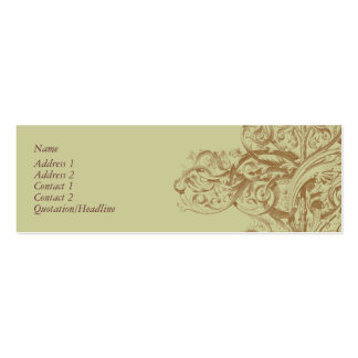 Blühen Sie Visitenkarte