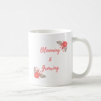 Blühen und Wachsen Kaffeetasse