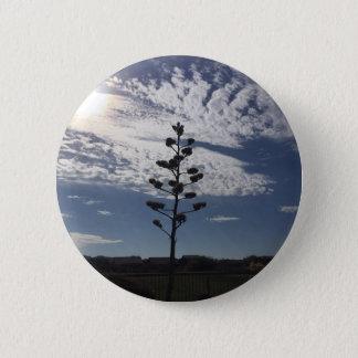 Blühende Agave Runder Button 5,7 Cm