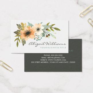 Blühende Aquarell-Visitenkarte Visitenkarte