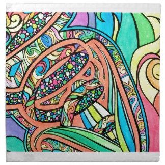 Blühende Bänder Serviette