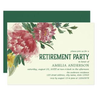 Blühende Blumen-Ruhestands-Party Einladung