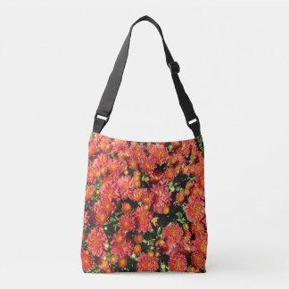Blühende Chrysantheme Tragetaschen Mit Langen Trägern
