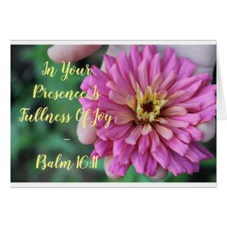 Blühende Freude - Notecard Karte