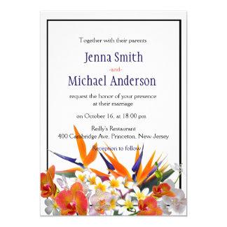 Blühende Freude-Tropische Wedding Blumen 12,7 X 17,8 Cm Einladungskarte