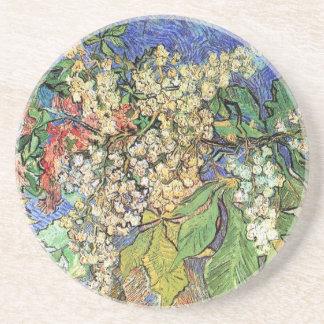 Blühende Kastanien-Niederlassungen, Van Gogh Sandstein Untersetzer