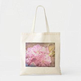 Blühende KirschAquarell-Blick-Blumenkunst Tragetasche