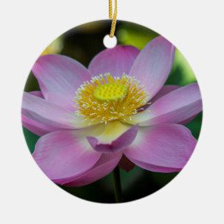 Blühende Lotos-Blume, Indonesien Keramik Ornament