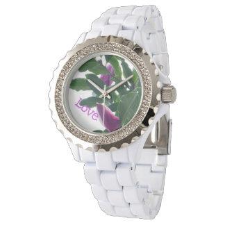 Blühende Magnolien Uhr