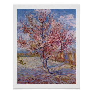 Blühende Pfirsich-Bäume Van Gogh | | 1888 Poster