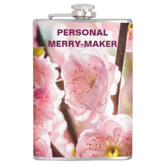 Blühende Pflaume - rosa Paradize Flachmann