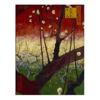 Blühende Pflaumenbaum Postkarte