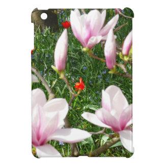 Blühende rosa Magnolie 01 Hüllen Für iPad Mini