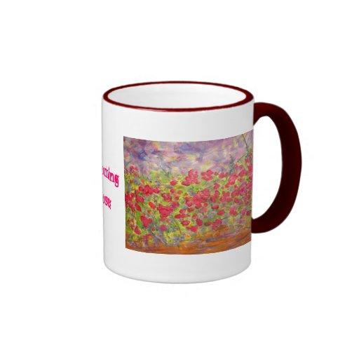 blühende Rosen (Slogan) Teetasse
