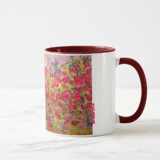 blühende Rote Rosen (Slogan) Tasse