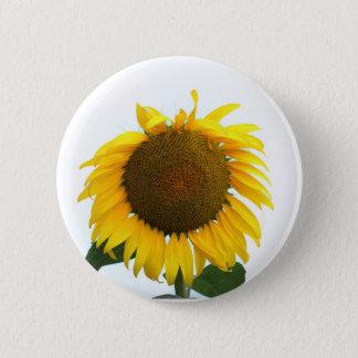 Blühende Sonnenblume Runder Button 5,7 Cm