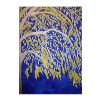 Blühender australischer Zweig auf Acryl Acryl Wandkunst