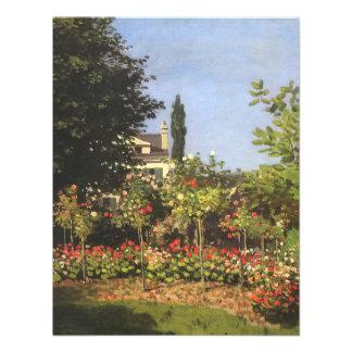 Blühender Garten bei Sainte-Adresse durch Claude
