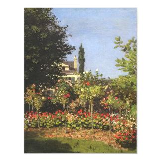 Blühender Garten bei Sainte Adresse durch Claude 10,8 X 14 Cm Einladungskarte