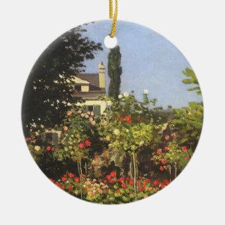 Blühender Garten bei Sainte Adresse durch Claude Keramik Ornament