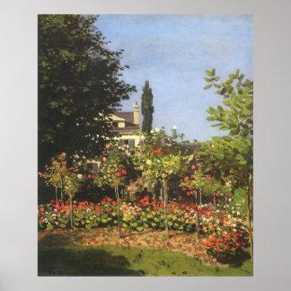 Blühender Garten bei Sainte Adresse durch Claude Poster