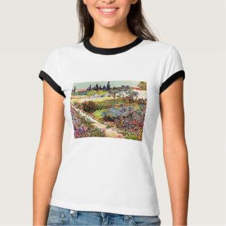 Blühender Garten Van Gogh an Arles Blumenschöner T-Shirt
