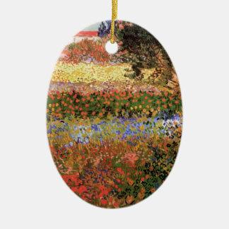 Blühender Garten Van Gogh, Vintage feine mit Keramik Ornament