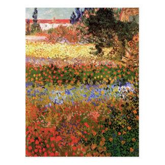 Blühender Garten Van Gogh, Vintage feine mit Postkarte